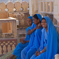 colorful sweepers at Amber fort - Canon T2i