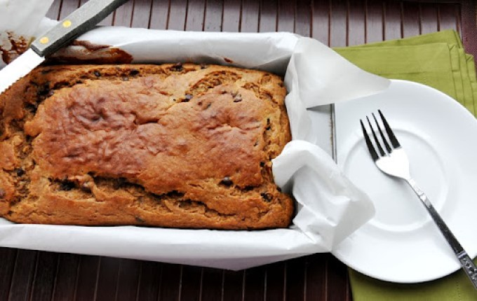 chocolate chip buttermilk banana bread 001