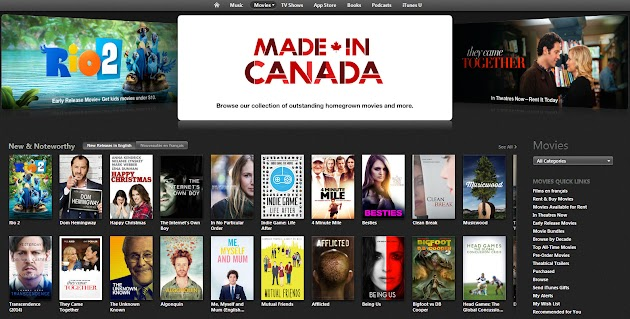Clean Break is now available on to own or rent iTunes, and currently on the home page of Movies.