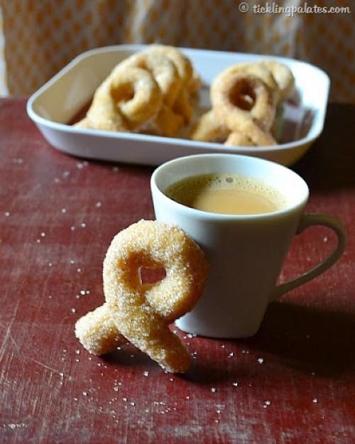 Sugar coated twisted cookies