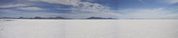 Bonneville Salt Flats Landscape