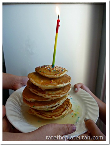 Birthday Cake Batter Pancakes
