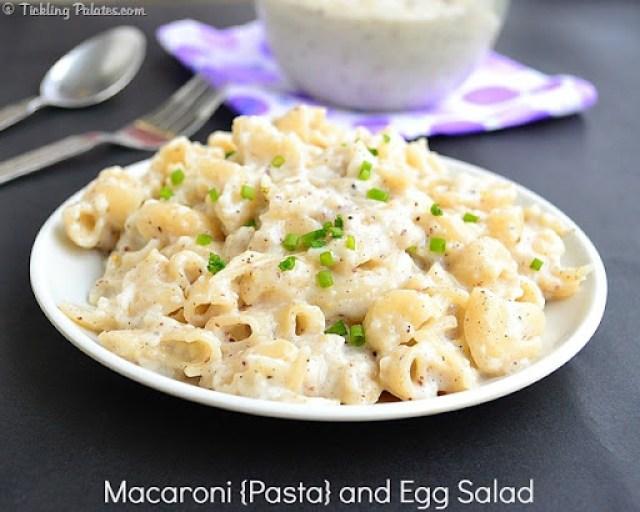 Macaroni Pasta and Egg Salad Recipe