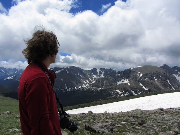 Admiring the Alpine View