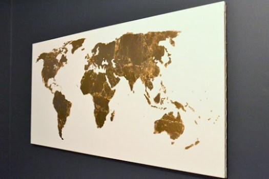 gold leaf map art