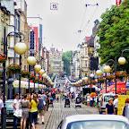 The main street in Chorzów is always busy.