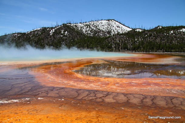 Brilliant glassy finish showcasing the colours of Yellowstone