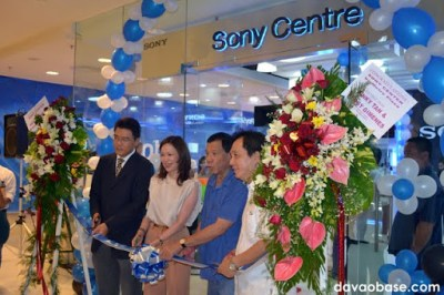 Grand opening and ribbon cutting of Sony Centre, with Vice Mayor Rody Duterte