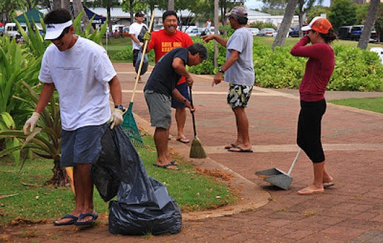 kewalo basin beach cleanup, kewalo district cleanup, kewalo environment