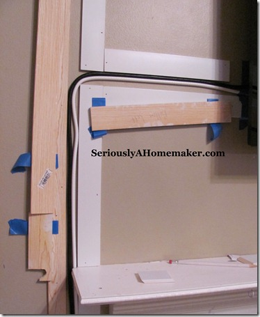 hiding tv cords in trim step 5