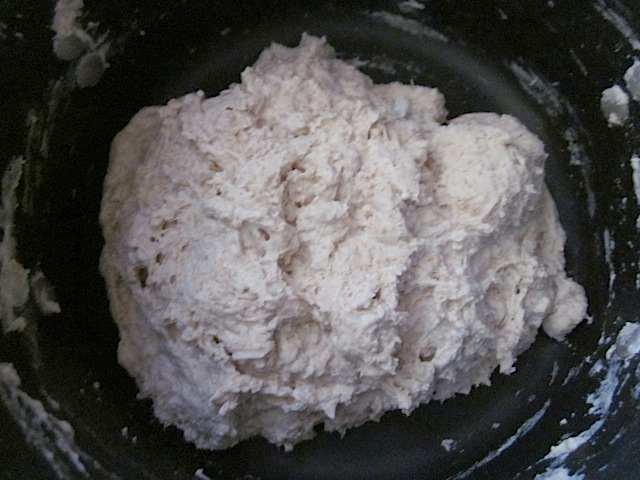 add water to dough