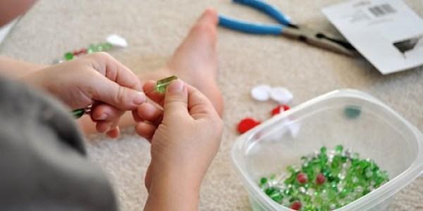 Easy Homemade Bead Christmas Ornaments - Step 2