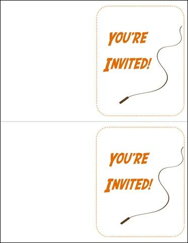 generic indiana jones invites