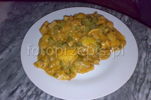 Schab a la Stroganoff wieprzowina smazone przepisy czytelnikow obiad europejska danie glowne  przepis foto