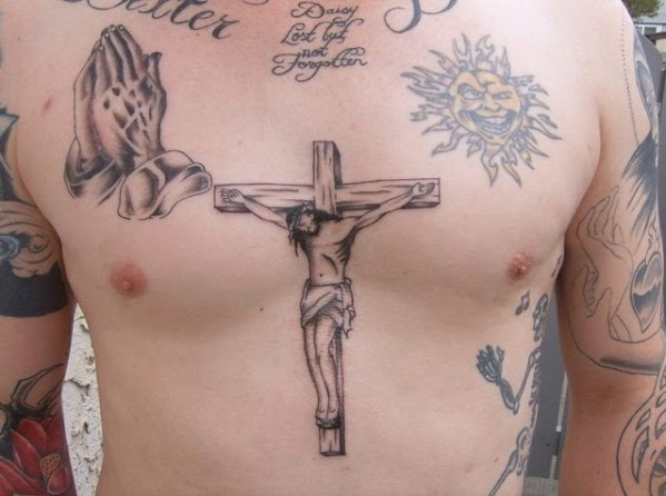 jesus Chest Tattoos
