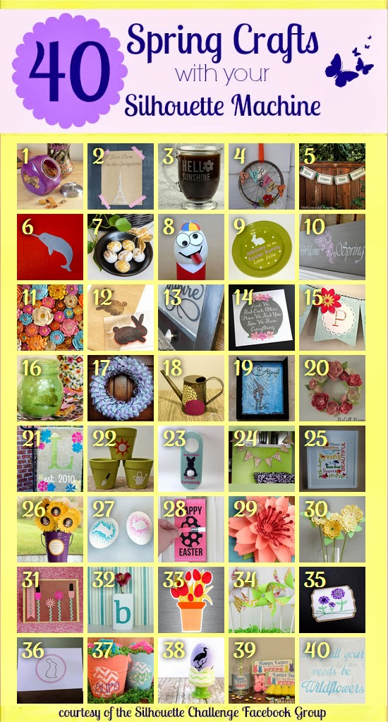 40 spring crafts with your silhouette machine
