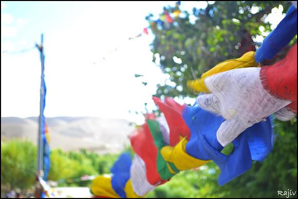 future buddha prayer flags