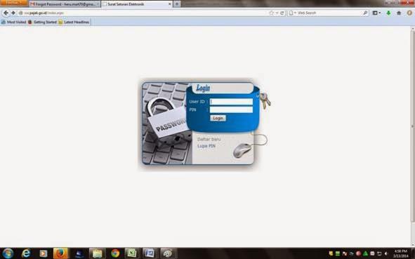 Klik login untuk masuk billing pajak