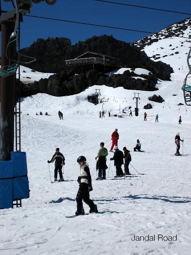 Snowboarding on Mount Ruapehu