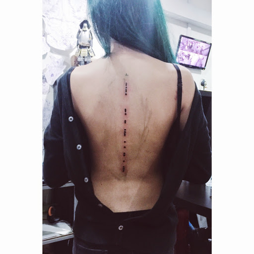 Tattoo Quotes Going Down Spine: 50 Best And Awesome Spine Tattoos For Men And Women