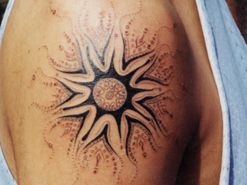 sun designs for tattoos