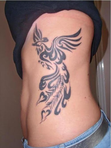 black Phoenix tattoo designs