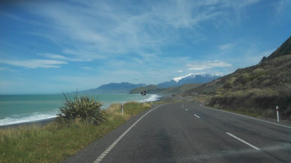 Driving on SH1 between Picton and Kaikoura