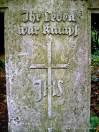 Symbol 'IHS' na nagrobku Sophie Morlock