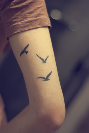 flying bird tattoos
