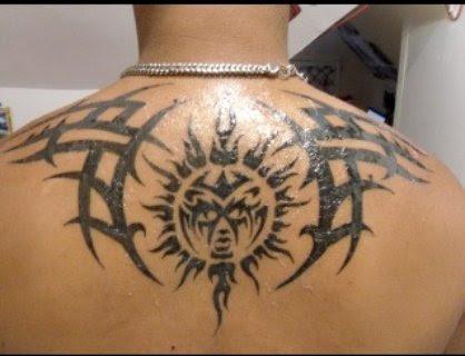 tribal tattoos sun