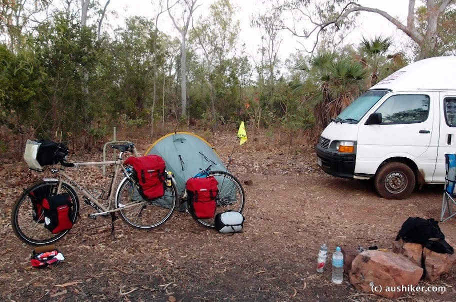 Camping at Florence Falls, Litchfield National Park, Northern Territory