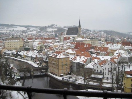 Old town from Cesky Krumlov castle