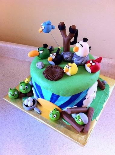 50 best angry birds birthday cakes ideas and designs for Angry birds cake decoration kit