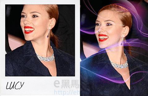 用Scarlett Johansson(史嘉蕾喬韓森)示範Rollip線上修圖結果