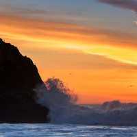 Sunset at Lands End - San Francisco - Pacific Ocean