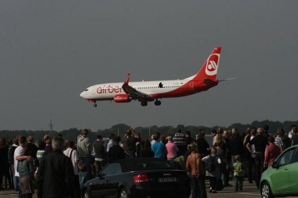 Air Berlin ist mit den B737 ein häufiger Gast in Hamburg
