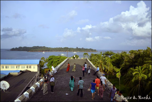 View from atop the Cellular Jail, port blair