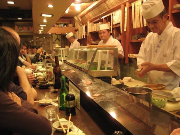 Sushi in Kyoto