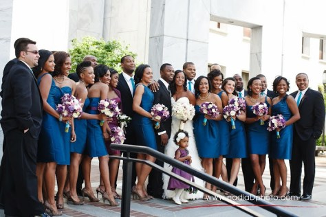 teal and purple wedding