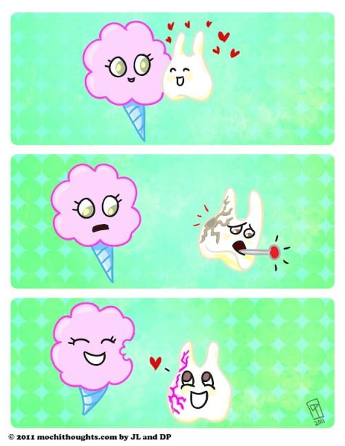 Cute Food Comics, Sweet on Tooth