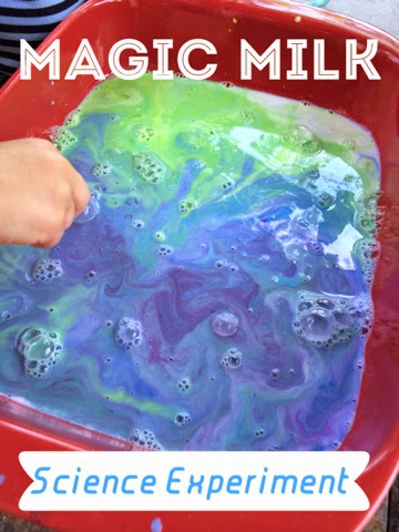 Combine science and art with this awesome experiment, and make some marbled milk paper with the finished product!