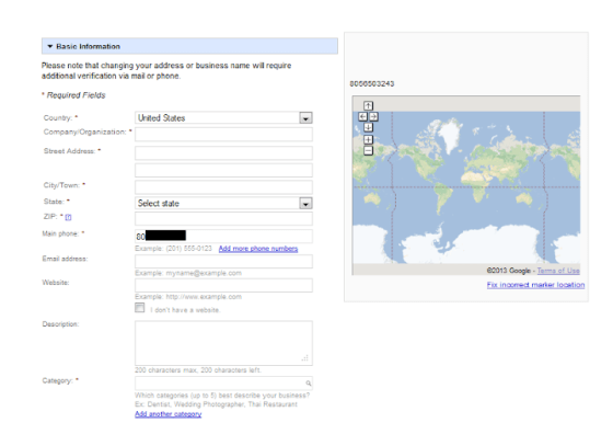 Fill out description for Google Places Listing