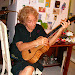 mom trying out the uke in Florida