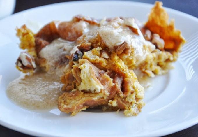 pumpkin brioche bread pudding 076