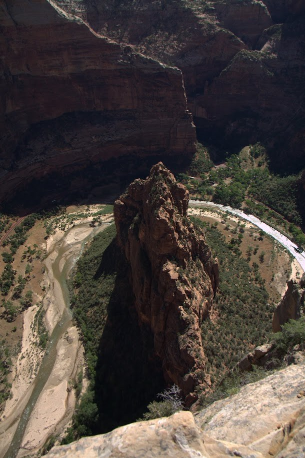 Looking Straight Down from Angels Landing