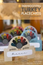 Capturing Joy - Turkey Placecards