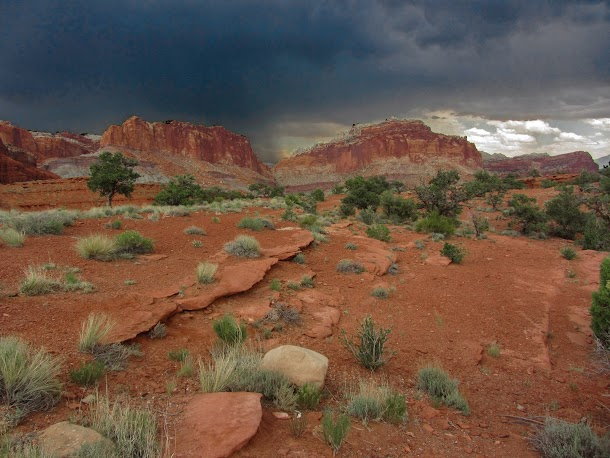 Storm Approaching Capitol Reef National Park
