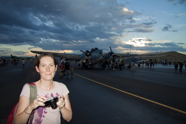 Renee at the Rifle Air Show