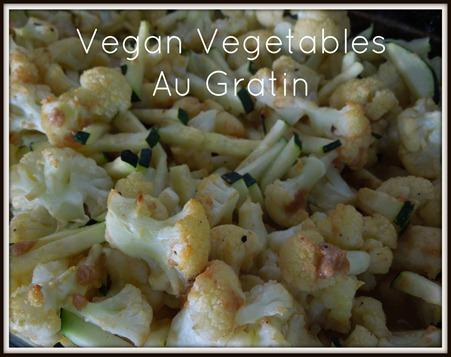 Vegan Vegetables Au Gratin