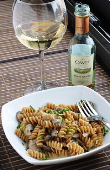 creamy mushroom pasta 097